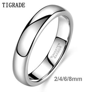 Tigrade Jewelry Ring Engagement-Ring Wedding-Band Tungsten Carbide Women 8mm Classic
