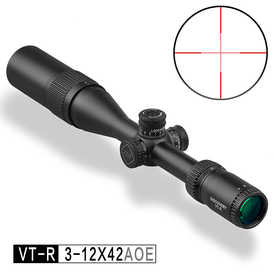 New Discovery Optics VT-R 3-12X42 AOE Hunting Riflescope With Red/Green Mil Dot Reticle Airsoft Scope