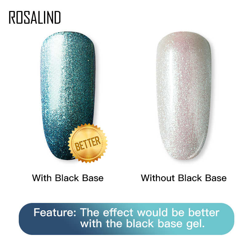 ROSALIND เล็บเจล Phantom Chameleon HYBRID เคลือบชุดตกแต่งด้านบนสำหรับเล็บ UV LED Art Lacquer