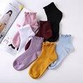 Mode Spitze Rüschen Weiche Baumwolle Frauen Socken Top Qualität Winter Nette Socken Süße Prinzessin Mädchen Gemütliche Schöne Frilled Weiß Rosa