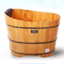 High Quality Bathtub Cask Adult Barrel Bath Tub Solid Wood Small Bathroom Tub Wooden Bath Household Barrel Tub