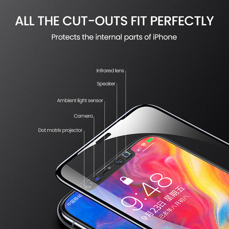New Clear Screen Protector HD Full Coverage Glass Film For iPhone 11 Pro Max 4