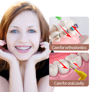 Image 5 - Y kelin 10 pièces 0.6 1.0mm adultes brosse interdentaire propre entre les dents fil dentaire cure dents outil de soins bucco dentaires orthodontique