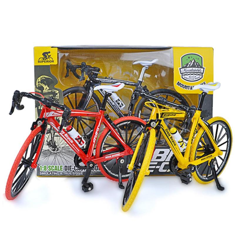 1/8 Scale Alloy Mountain Cycling Model Early Education Intelligence Development Toy Simulation Road Bike Child Toy Gifts