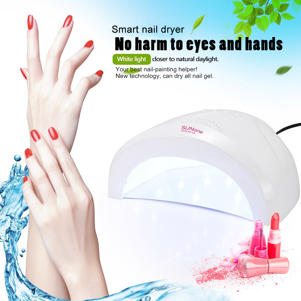 Abody Nail Lamp 48W SUNONE Professional LED UV Nail Lamp Nails Light Nail Dryers UV Lamp Fingernail Toenail Gel Curing free shipNail Dryers   -