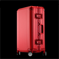 high quality Aluminum suitcase travel suitcase with wheels cabin suitcase big trolley case luggage set luxury metal travel bag