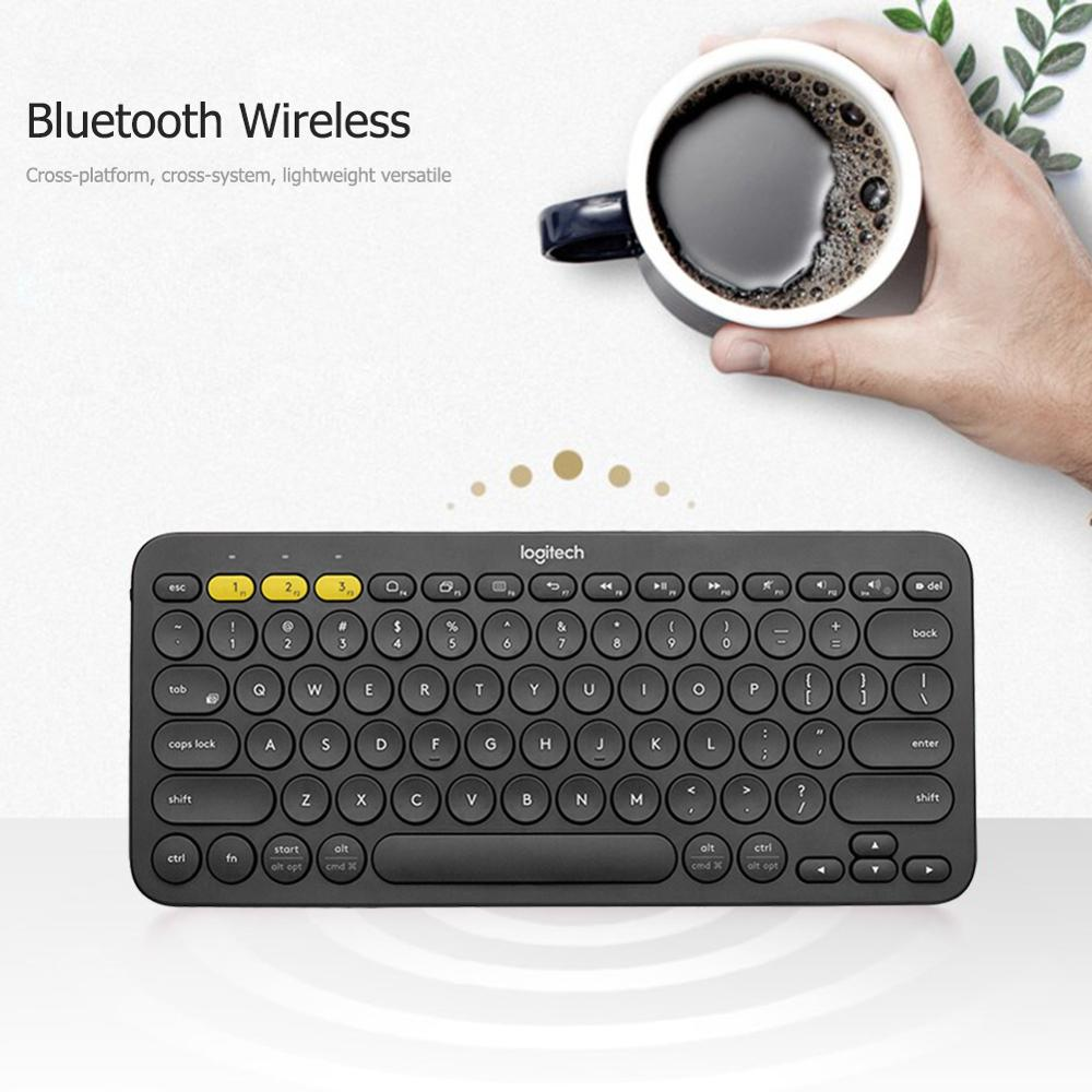 Image 3 - Logitech K380 Multi Device Bluetooth Wireless Keyboard Ultra Mini Mute for Mac Chrome OS Windows for iPhone iPad AndroidKeyboards   - AliExpress