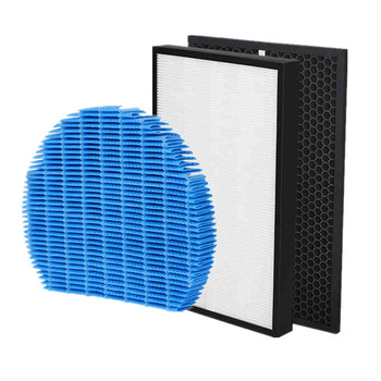 1 set (3pcs) air purifier filter HEPA activated carbon humidifier filter for Sharp kc-840 replacement parts humidifier parts humidifier wick filter replacement filter b fit for holmes hwf64 humidifier replacement filter