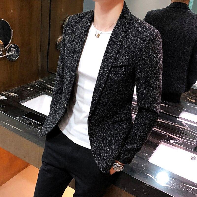 Grey Casual Men Slim Blazer Designs Formal Jacket Men Slim Fit Stylish Casual Blazer Classic Traje Lentejuelas Suit Coat JJ60XX