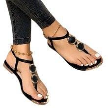 Femmes Sandales D'été En Plein Air Plage Flip-flop Sandales Sandales Romaines Boucle Sangle Gladiateur Femmes Appartements Décontracté Dames Chaussures Nouveau