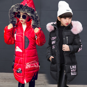 New Girls Warm Winter Coat Artificial Fur Fashion Kids Hooded Jacket Coat for Girl Outerwear Girls Clothes 3-12 Years(China)