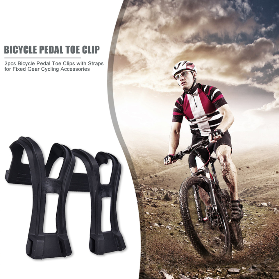 New Black Toe Clips Bicycle Pedal Strap Sports Fitness Equipment Accessories ZE
