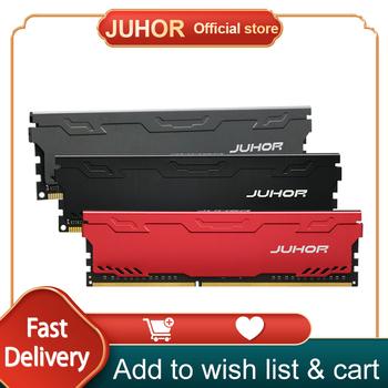 JUHOR Ram DDR4 DDR3 4GB 1600MHz 8GB 2133MHz 2666MHz 2400MHz 16GB 3000MHz pamięć pamięć pulpit Dimm z radiatorem tanie i dobre opinie 2666 MHz CN (pochodzenie) DDR4 2666MHZ 19-19-19-43 288pin 1 2VV 3 years