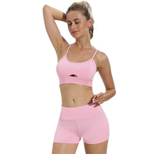 Summer 2pcs Women Sport Set Clothes Breathable Soft Sports T-shirt +Yoga Shorts for Yoga Fitness Clothing Active Wear