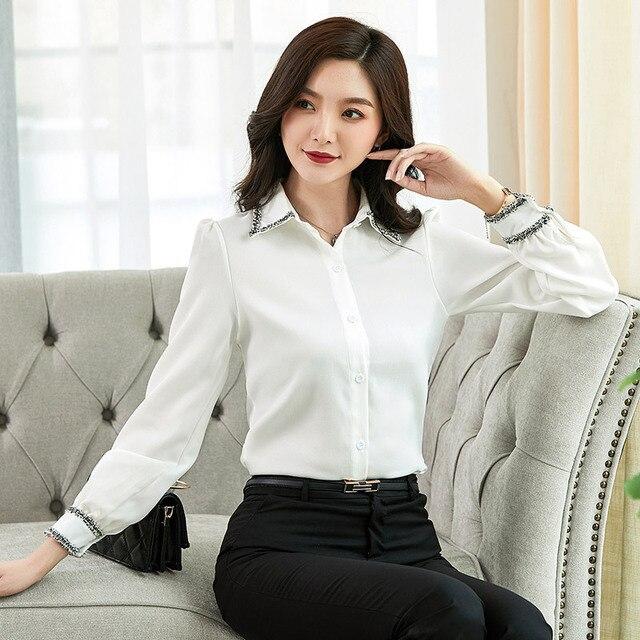 Women Blouses Woman Shirts Tops Long Sleeve Shirt Chiffon Blouse Women Plus Size 5XL FreeShipping Fashion Woman Blouses 2020 1