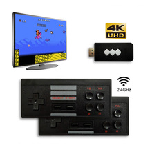 USB אלחוטי כף יד טלוויזיה וידאו משחק קונסולת לבנות 600 קלאסי משחק 8 ביט מיני וידאו קונסולת תמיכת AV/HDMI פלט