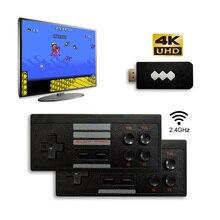 Usb ワイヤレスハンドヘルドテレビでビデオゲームコンソールビルドの 600 古典的なゲーム 8 ビットミニビデオコンソールサポート av/hdmi 出力