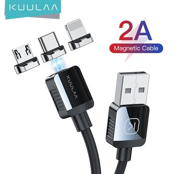 KUULAA Magnetic Charger Cable USB Type C Cord Micro USB C Cable For iPhone Xiaomi Samsung Magnet Phone Charging Cord USBC Wire