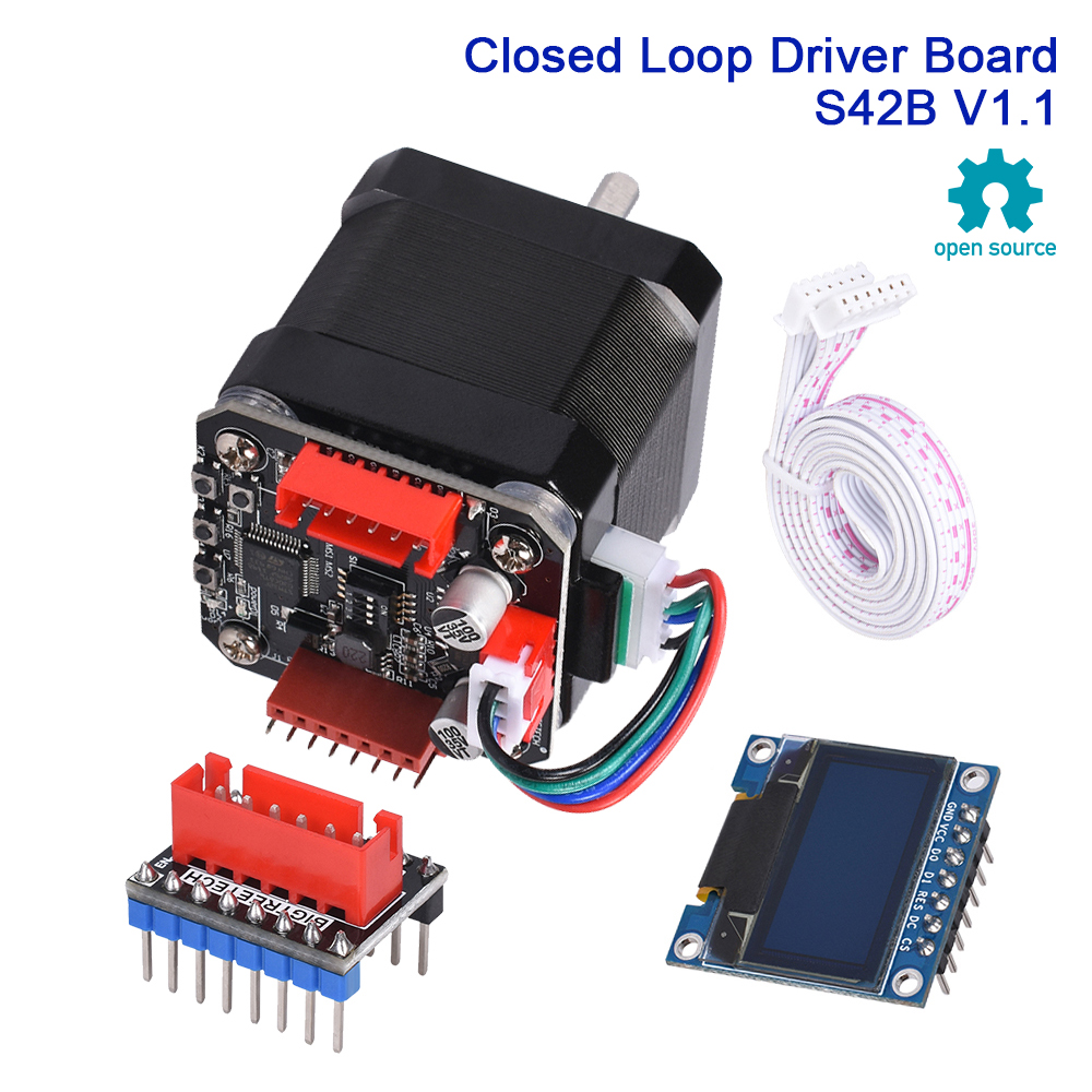 BIGTREETECH S42B V1 1 Closed Loop Driver Control Board OLED SERVO42 42 Stepper Motor 3D Printer Parts SKR V1 3 V1 4 Turbo ender3