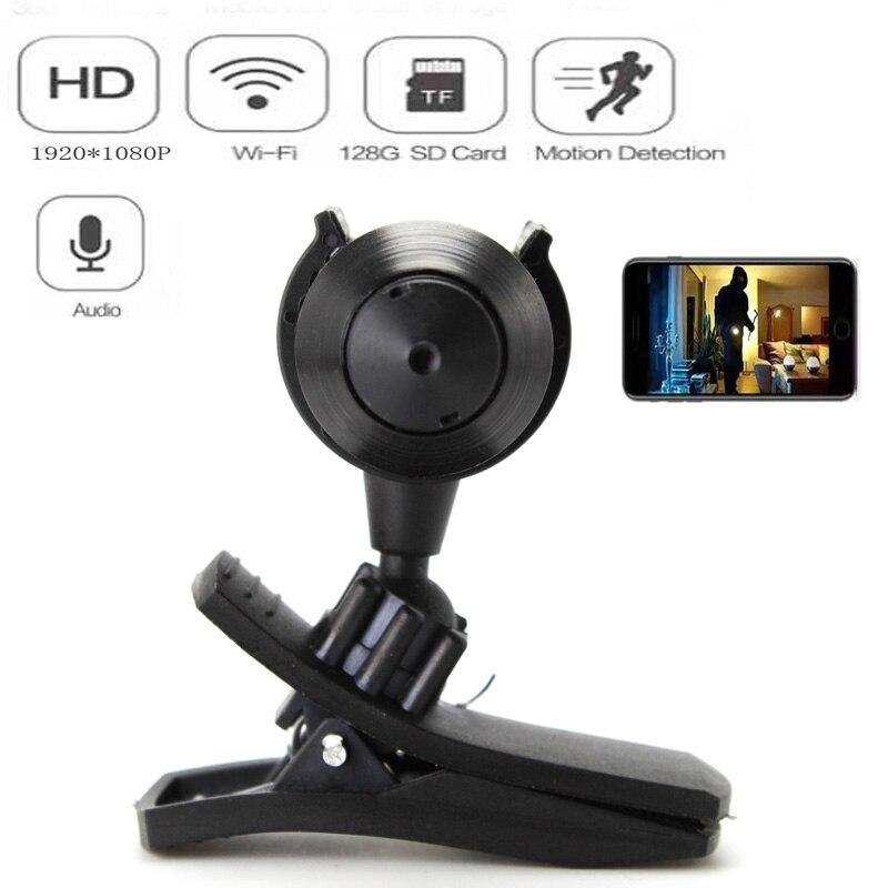 Mini caméra HD 1080P Portable WiFi IP | Micro caméra P2P sans fil, webcam, caméscope, enregistreur vidéo, supporte la vue à distance, carte TF cachée
