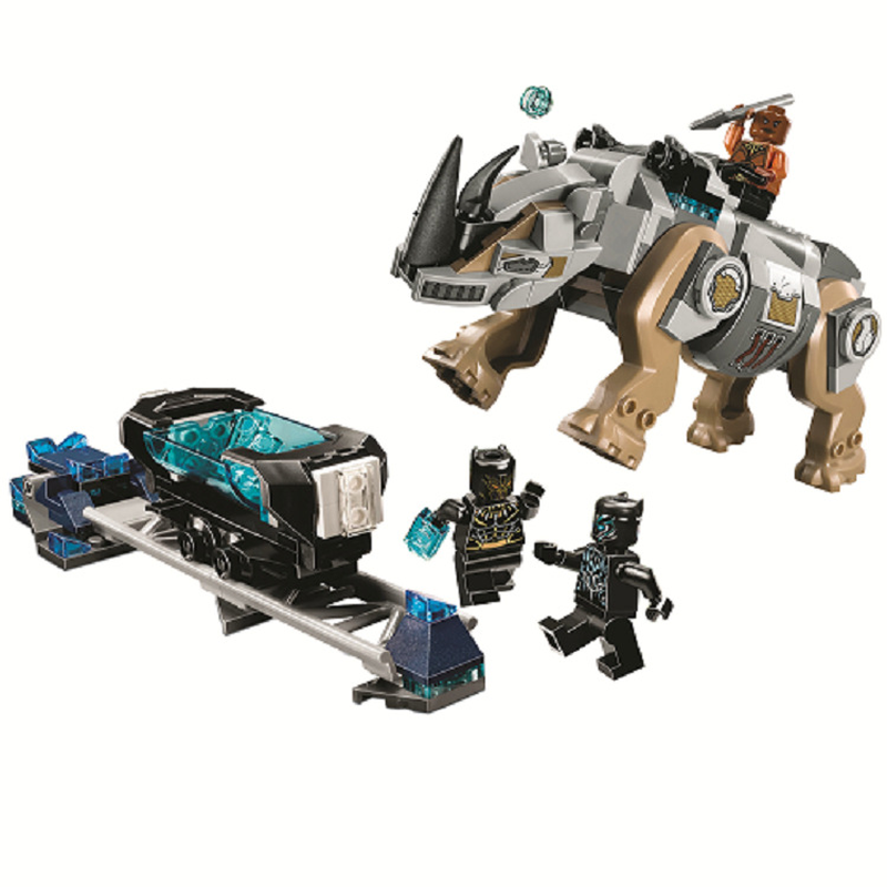 10836 Genuine Compatible With Legoinglys Super Hero Series Black Panther Set Building Blocks Bricks Toys For Children Gifts