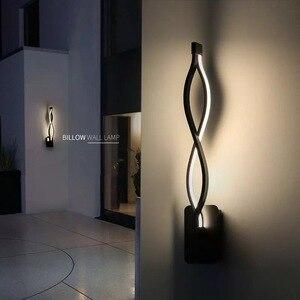 Image 2 - Lampe murale murale en aluminium ondulé, éclairage décoratif pour la maison, idéal pour une chambre à coucher, un couloir, 16W mur LED, AC90 260V