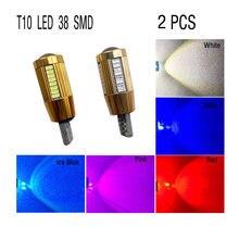 2 PCS W5W T10 LED Canbus 12V 6000K 3014 38 SMD Car 5W5 LED Bulb Clearance Wedge Side Light Super Bright For Car LED Lighting