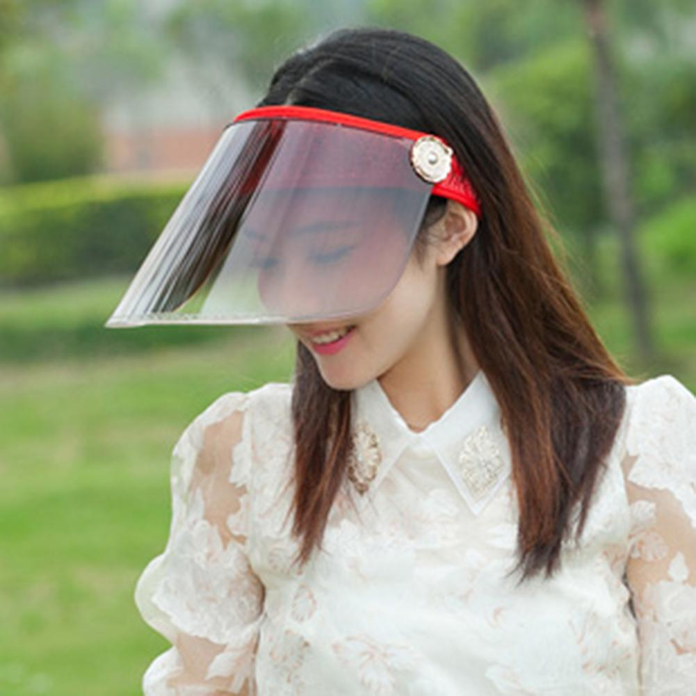 Women Summer Anti Splash Dust-proof Protect Face Covering Mask Anti-UV Face Shield Empty Top Sun Visor Cap Outdoor Cycling Hat