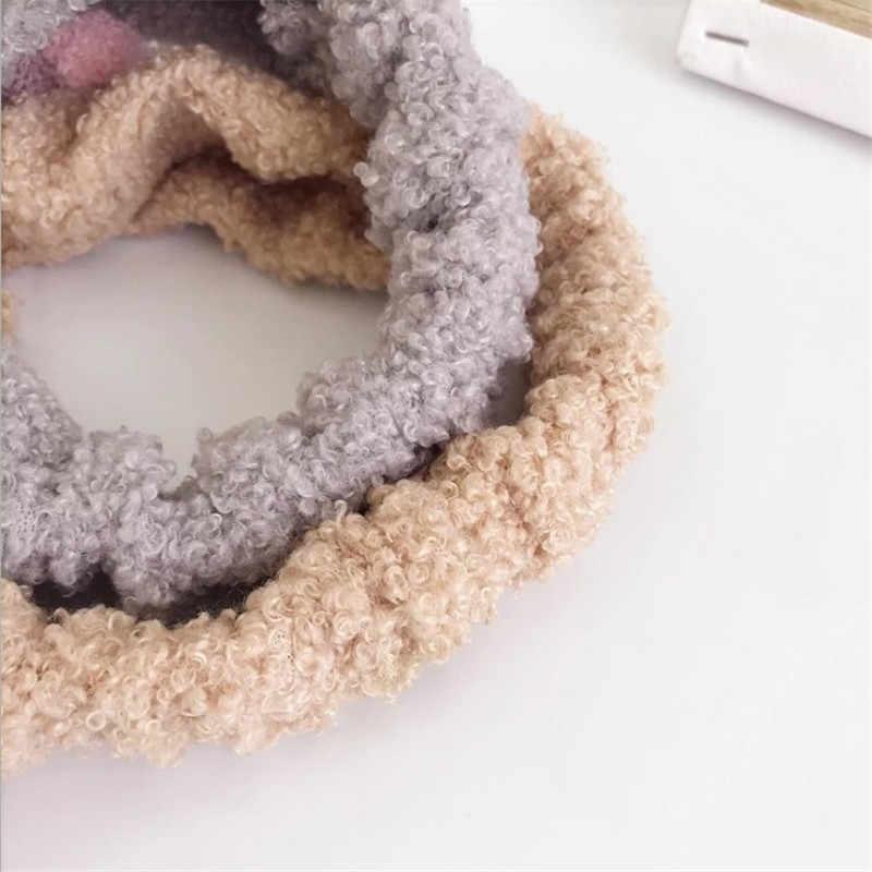 แถบคาดศีรษะผู้หญิงฤดูหนาวฤดูใบไม้ร่วง Elastic กระต่ายหูสำหรับหญิงหน้าอาบน้ำ Hairbands Turbans ผมอุปกรณ์เสริม
