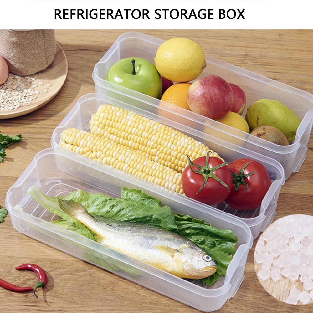 Na jedzenie w lodówce pudełko do przechowywania z tworzywa sztucznego przejrzyste pojemniki na sortowania pojemniki z pokrywką do kuchni lodówka szafka zamrażarka organizator