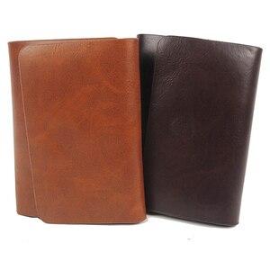 Мужской кожаный кошелек с зажимом для денег, магнитный мужской кошелек для денег, брендовый дизайнерский поддельный Кошелек для монет, чехо...