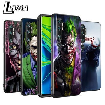 Batman Joker Marvel Silicone Cover for Xiaomi Mi 10 9T CC9 Pro Note 10 9 8 A3 A2 A1 6X 5X Lite Mix 3 Black Phone Case image