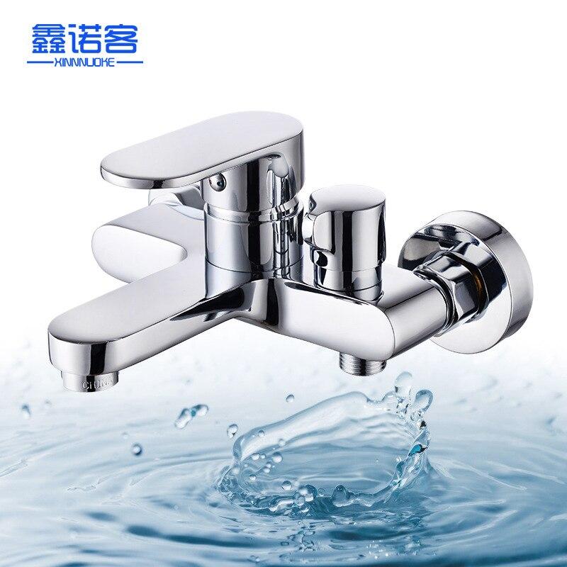 Une génération de graisse côté ouvert de froid tirant Triple robinet de douche en cuivre mélangeant l'eau robinet de baignoire fabricants Direct Selli