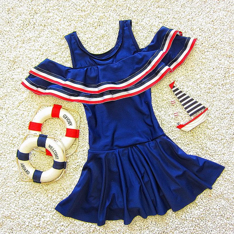 Korean-style Dress-Boxer Flounced Big Boy Baby GIRL'S Conservative Hot Springs KID'S Swimwear