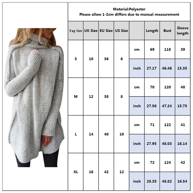 Turtleneck Women Knit Sweater Winter Long Sleeve Women Knitted Tops Lady Solid Pullover Long Sweater Female Oversize Sueter D40 10