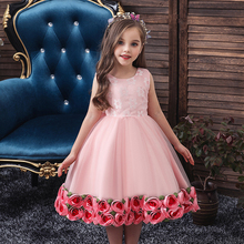 Baby Girl Dresses Christmas Dress Wedding Gown Children Clothing Kids Dresses For Girls Children Ceremony Party Lace Embroidery 2017new china traditional red color girls children princess dress embroidery lace wedding birthday party ceremony dress for kids