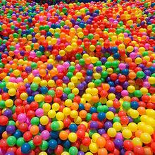 100Pcs Colorful Soft Water Pool Ocean Wave Ball Outdoor Fun Sports Baby Children Toy Amusement Park Props Mixed Color Kid Toys