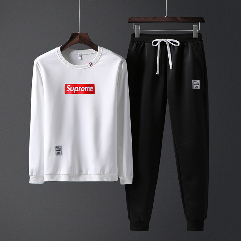 Men's Autumn New Style Hoodie Sports Set Korean-style Trend Workout Clothes Youth Handsome Running Long Sleeve 2 Pieces