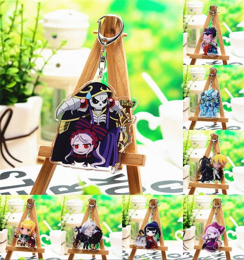 Anime Overlord Momonga Albedo Hamusuke Narberal Gamma Gantungan Kunci Gantungan Kunci Halloween Cosplay Kartun Gantungan Kunci Gantungan Kunci Hadiah Mainan