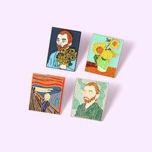 Pinos Van Gogh broche de esmalte de Pines de Metal broches de Pin de solapa de diseñador de mujer insignias Broch regalos de Navidad de joyería 2021