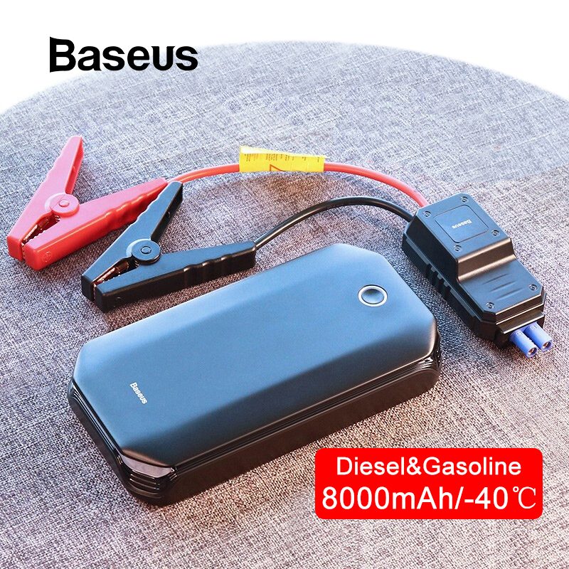 Baseus Car-Charger Battery-Power-Bank Jump-Starter Starting-Device Emergency-Booster title=