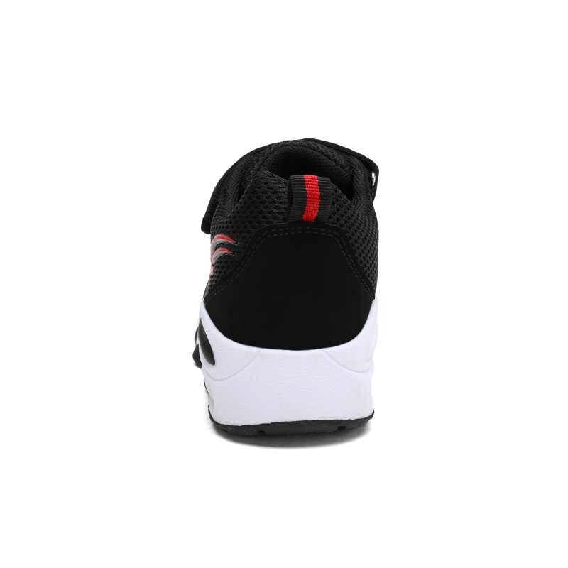 Skhek Kinderen Sport Schoenen Leer Jongens Meisjes Kinderen Goede Kwaliteit Casual Schoenen Sneakers Zwart Rood Kleur Comfortabele Kids Schoenen
