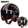 Шлем BEON  винтажный шлем для скутера  шлем с открытым лицом  винтажный шлем для мотокросса  шлем Casco Capacete  Ретро шлем
