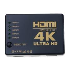 цена на 3 /5Port 4K*2K 1080P Switcher HDMI Switch Selector 3x1 Splitter Box Ultra HD for HDTV Xbox PS3 PS4 Multimedia HOT sale