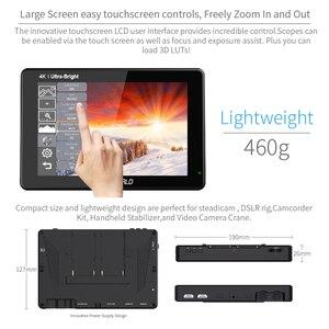 Image 5 - FEELWORLD LUT7 7 inç 3D LUT 2200nits dokunmatik ekran DSLR kamera alan monitörü ile dalga formları Histogram Histogram