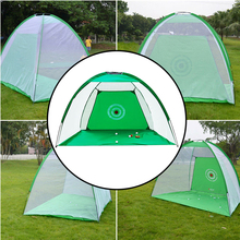 Garden Sports Indoor Outdoor Grassland Portable With Hitting Mat Golf Practice Net Foldable Training Aid Swing Club Exercises