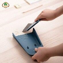 MSJO Mini Desktop Sweep Cleaning Brush Dustpan Broom Set Wiper Cleaner  Household Table Keyboard Car Gap Groove Cleaning Tools