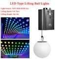 3D Up Down Lifting Hoogte 0 m-5 m DMX RGB LED Lifting Bal Moderne Golf Effect Kleurrijke Kinetische licht Lift Bal Voor Podium DJ Disco