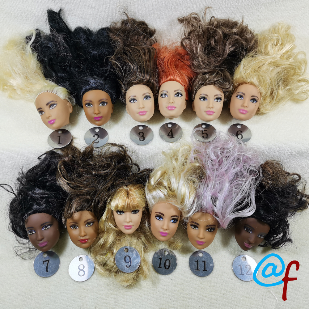 B4-1 Original Foreign Trade Eastern Europe Beauty  1/6 OOAK NUDE Rarely Doll Head Mussed Many Hair For DIY Soft PVC Head