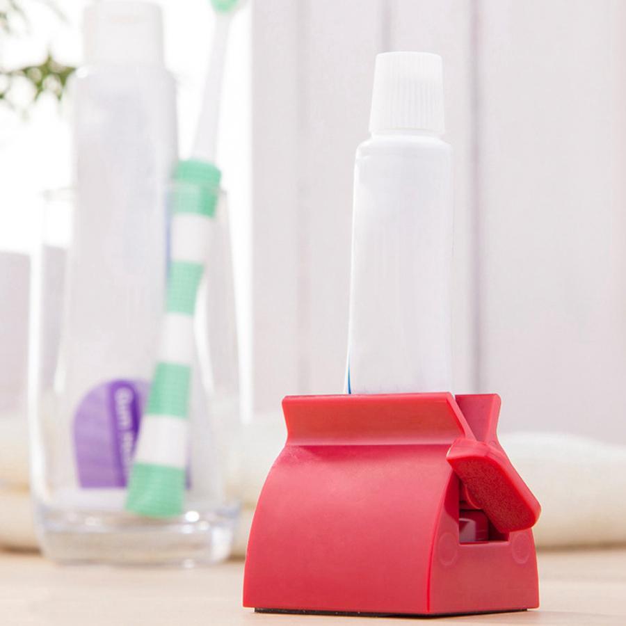 Bathroom Supplies Plastic Toothpaste Tube Squeezer Easy Dispenser Rolling Holder